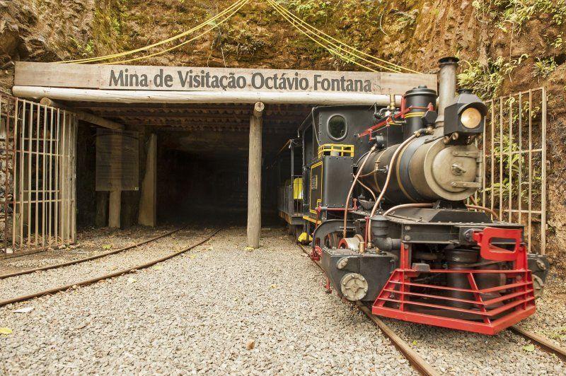 A antiga mina de carvão São Simão em Criciúma (SC), foi transformada em local de visitação turística.
